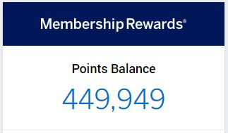 American Express Membership Rewards balance