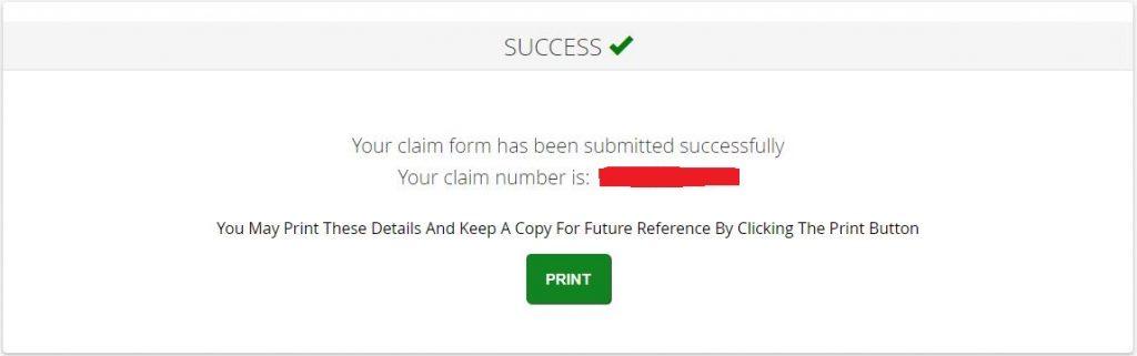 Equifax data breach claim submission confirmation