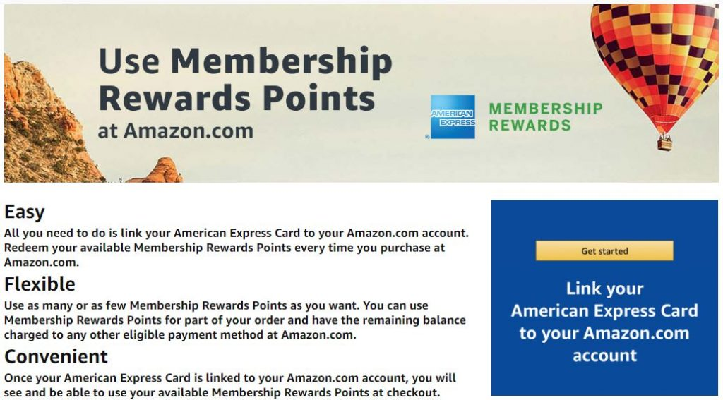 Linking American Express Membership Rewards to Amazon