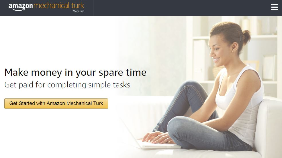 Amazon MTurk home screen