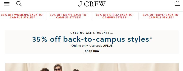 Jcrew back to campus sale