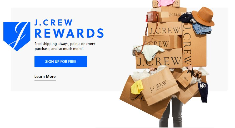 JCrew Rewards program