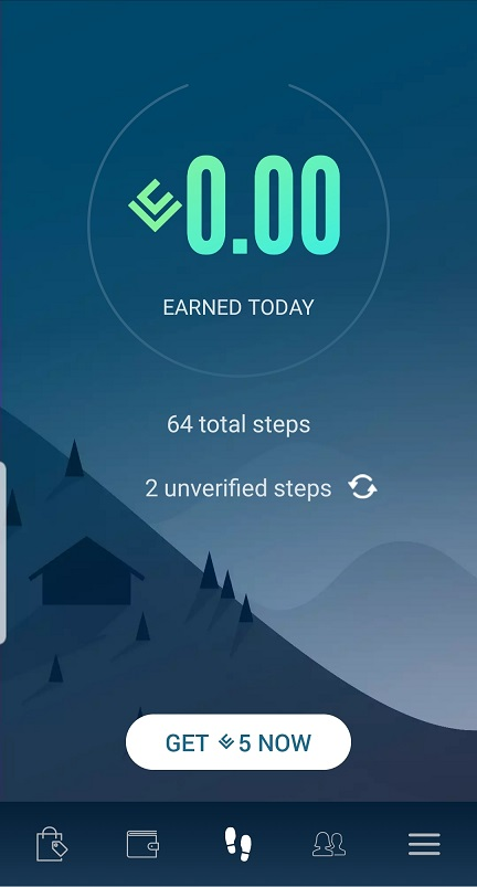 Lifecoin app home screen