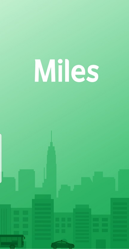 Miles app home screen