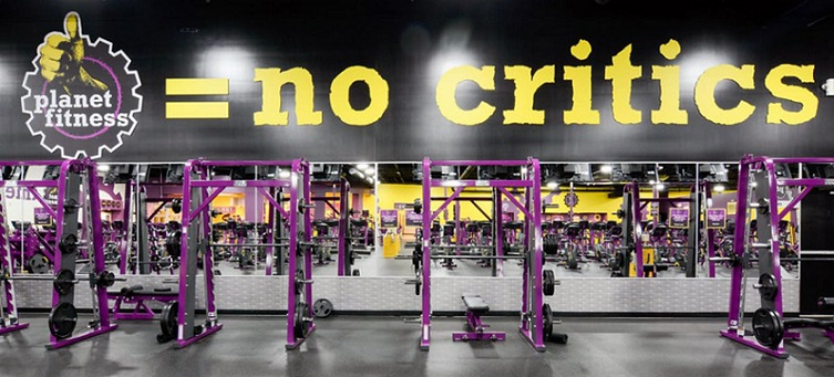 Planet Fitness inside view of the gym