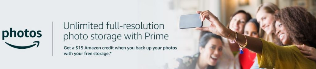 Amazon Photos promotion banner