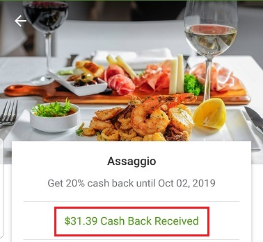 Groupon+ cash back at Assaggio Restaurant