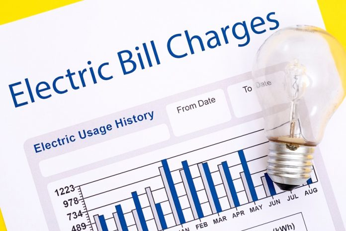 Electric bill with light bulb on top