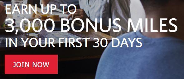 Delta Skymiles Dining program sign-up bonus