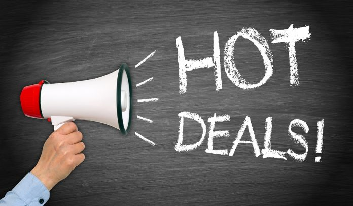Megaphone announcing hot deals