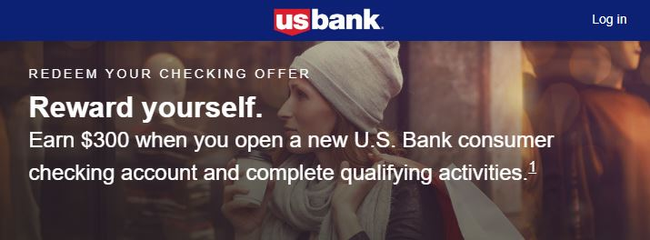 U.S. Bank $300 checking account bonus offer banner