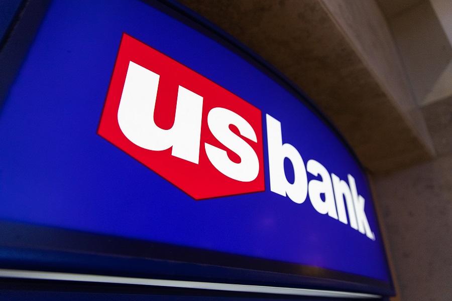 U.S. Bank logo on ATM machine
