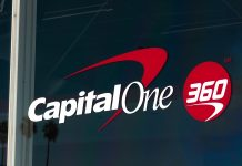 Capital One 360 logo on building window