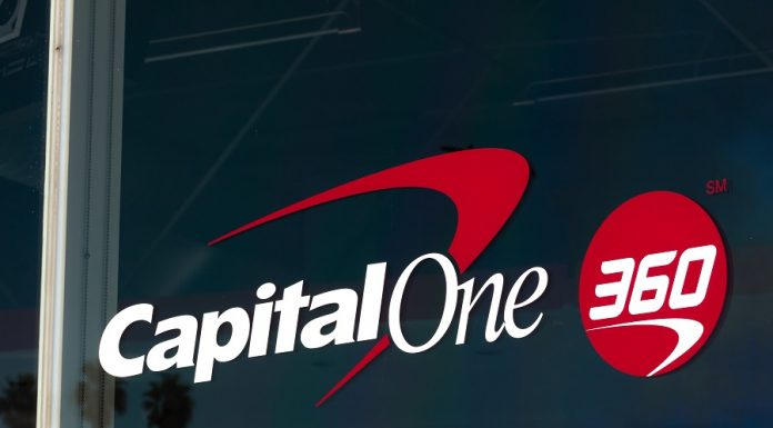Capital One 360 logo on building window