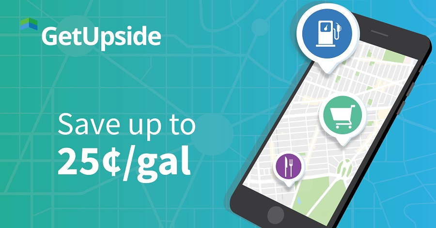 GetUpside landing page picture that advertises that you can save money on gas