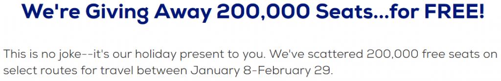 Megabus 200,000 free seats  promotion header