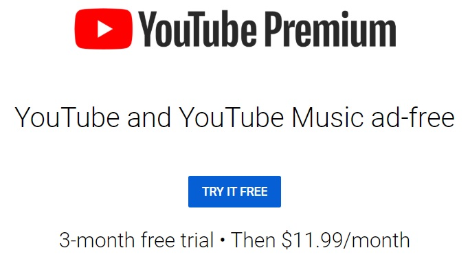 YouTube Premium 3-month trial offer