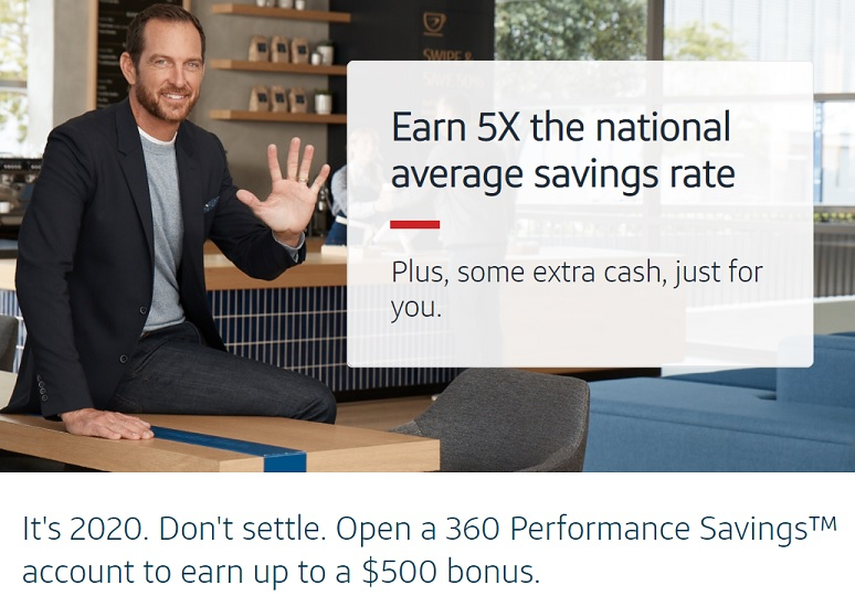 Landing page Capital One savings bonus of up to $500