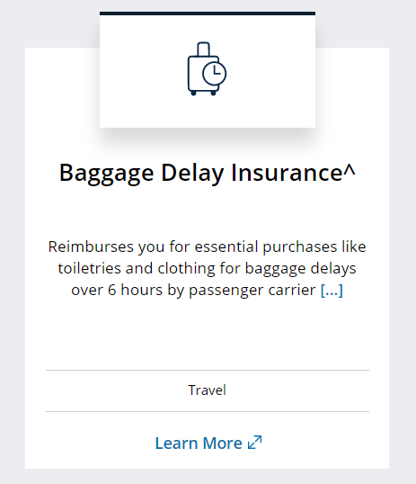 Chase Sapphire Reserve benefit of baggage delay insurance