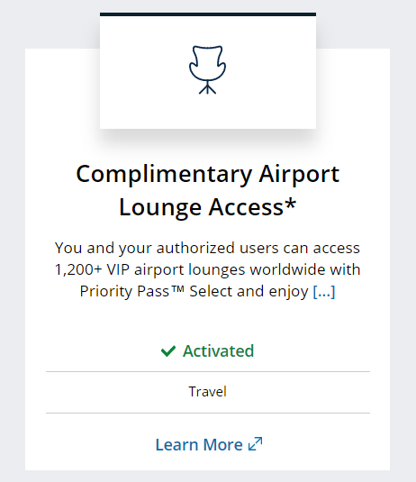 Chase Sapphire Reserve benefit of Priority Pass airport lounge access