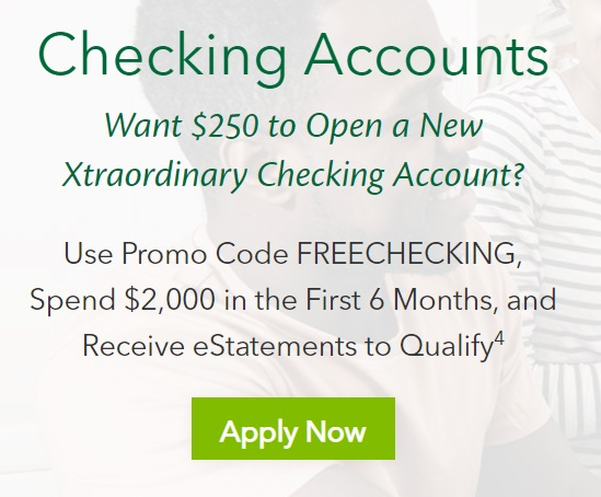 Connexus $250 checking account bonus ad banner