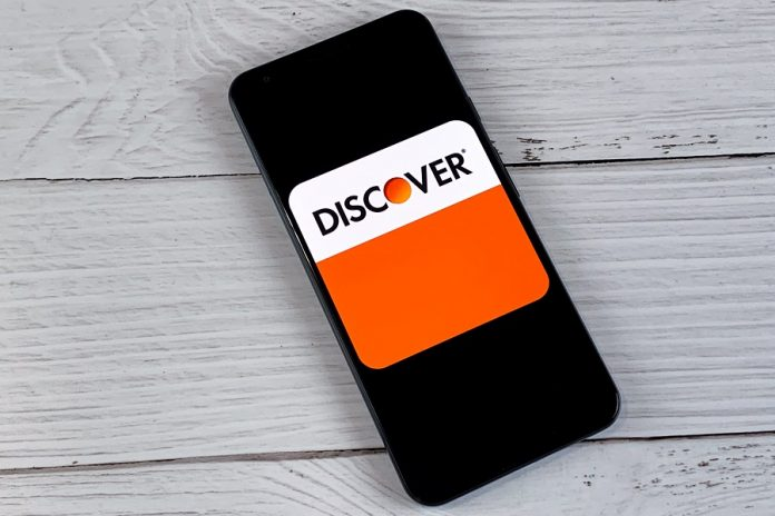 Discover logo on mobile phone
