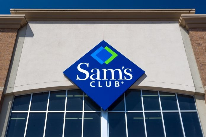 Sam's Club sign on building