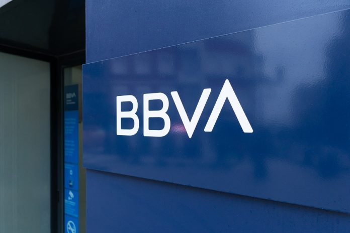 BBVA Bank sign on building