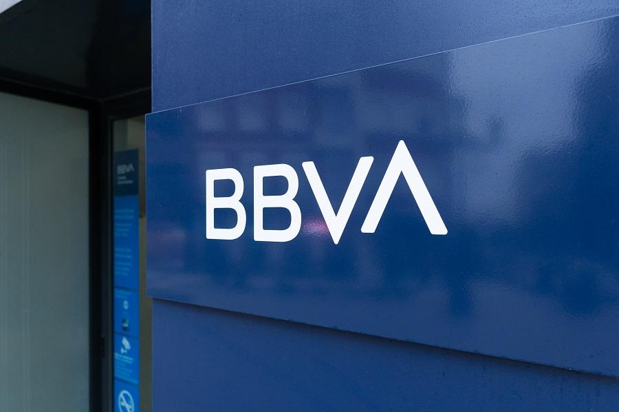 BBVA Bank sign on building