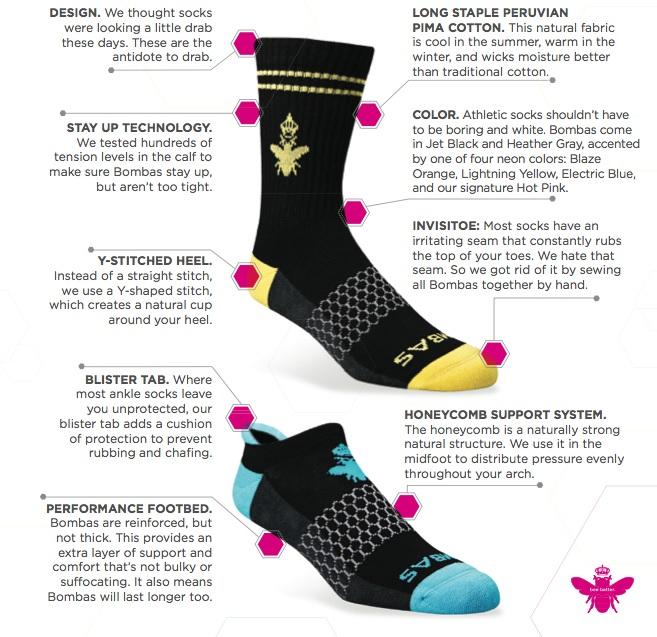 Bombas socks 7 improvements