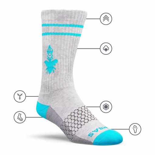 Bombas calf dress socks in grey