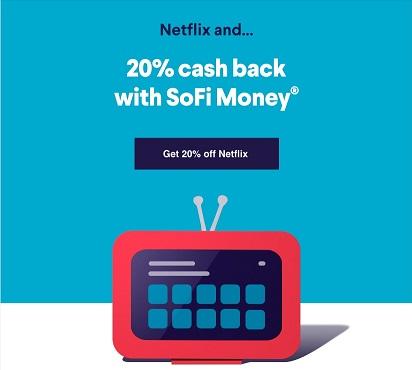 SoFi Money and Netflix partnership promotion