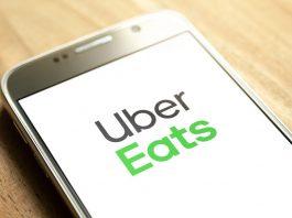 Uber Eats logo on phone