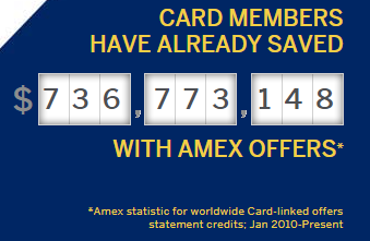 Total AMEX Offers savings from card members