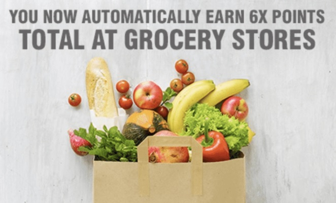 AMEX Marriott Bonvoy Brilliant 6x points at grocery stores