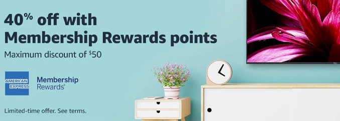 40% off at Amazon with Membership Rewards points