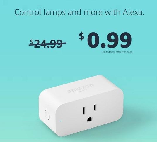 Amazon smart plug for $0.99
