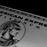 American Express Platinum card zoomed in