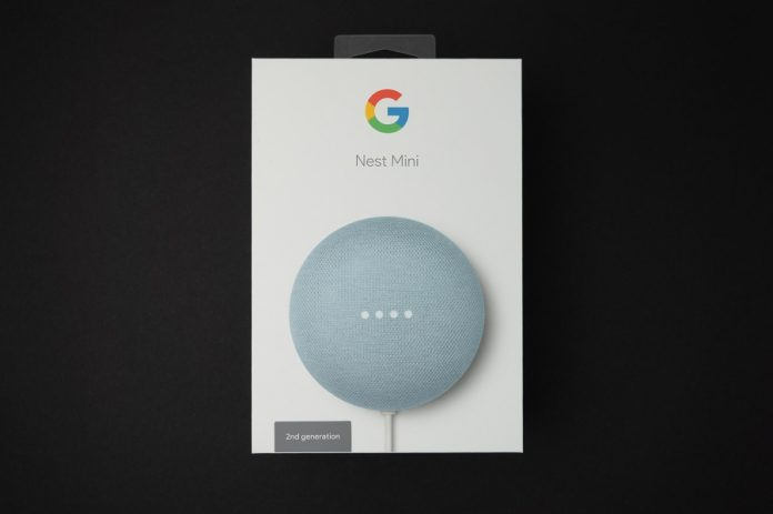 Google Next Mini retail box
