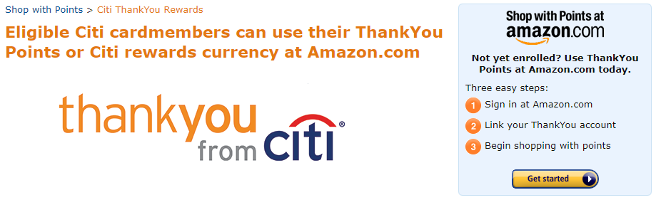 Linking Citi ThankYou points to Amazon