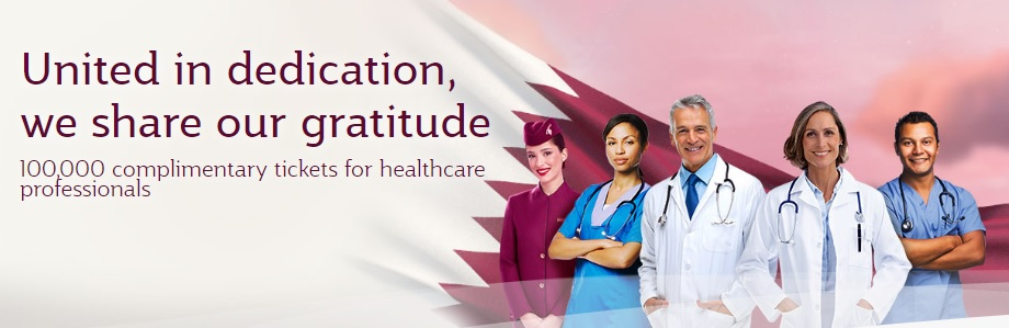 Qatar Airways 100,000 tickets for healthcare professionals promotion