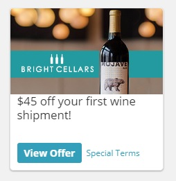 $45 off your first wine shipment from Bright Cellars