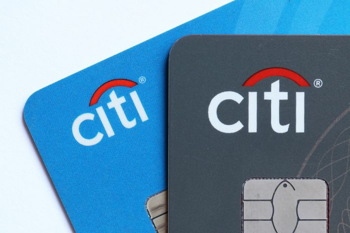 Two Citi cards zoomed in