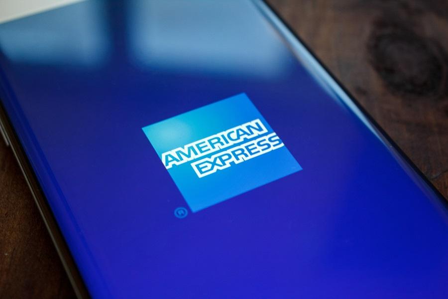 American Express logo on phone