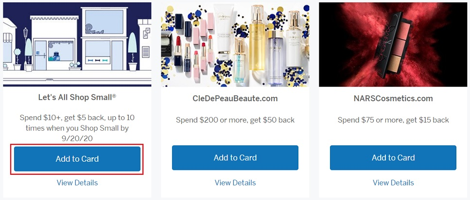 Amex Offers on Amex Connect