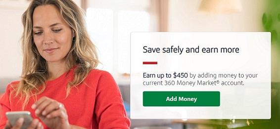 Capital One 360 existing customer bonus up to $450