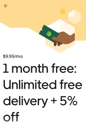 Free month of Eats Pass