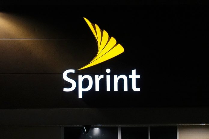 Sprint logo on store building