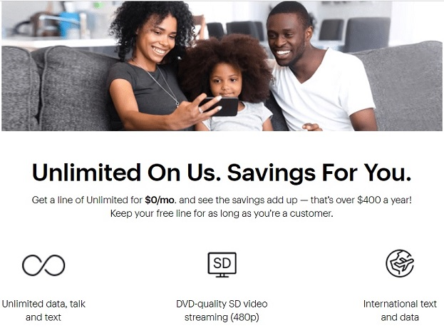 Sprint Unlimited Line On Us Plan
