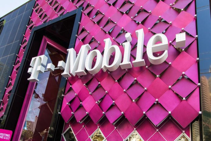 T-Mobile logo on store building